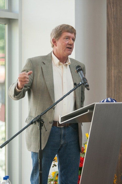 Attendees at the Grand Opening included Congressman Scott Tipton (shown here) and Representative Millie Hamner. Major donors Dawn Arnall, Warren Lichtenstein and Barbara Hines shared brief remarks. Photo credit: Todd Patrick Photography