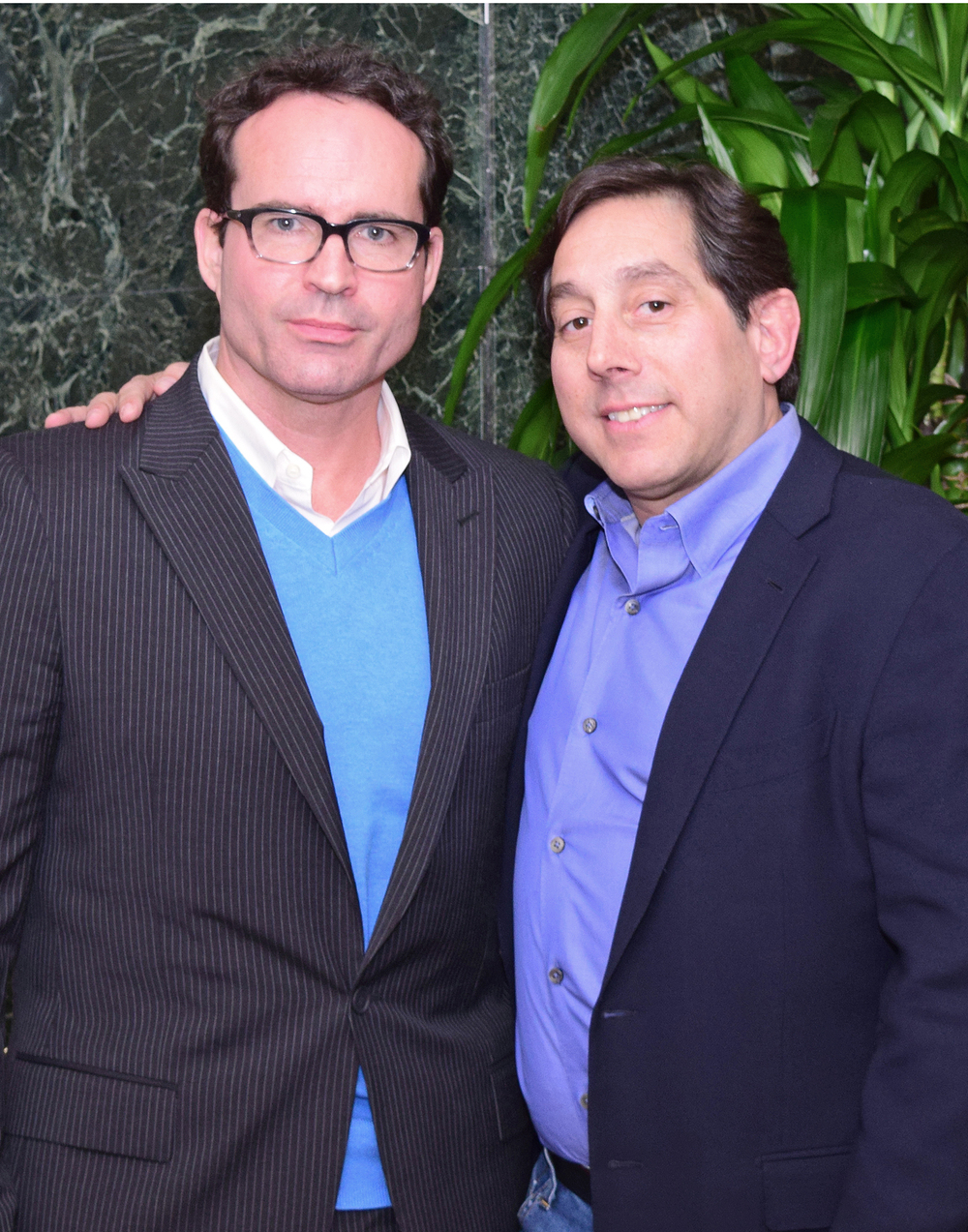 Jason Patric, founder of Stand Up for Gus, and Warren Lichtenstein, founder of Steel Partners Foundation, co-hosted a Think Tank on Parental Alienation on Feb. 5, 2016.