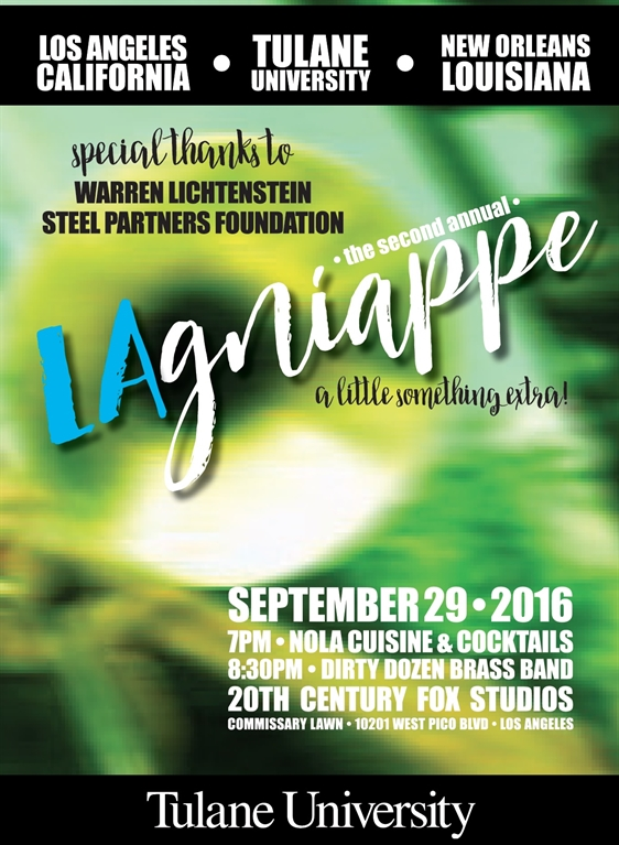 LAgniappe 2016 benefiting Tulane University