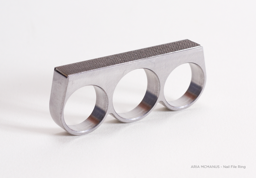 Nail File Ring by Aria Mcmanus