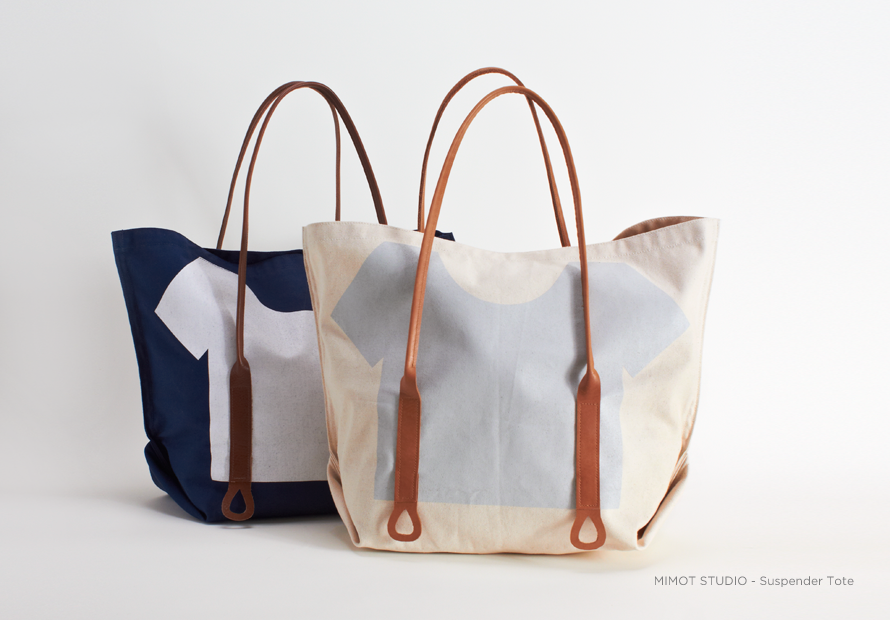 Suspender Tote by Mimot Studio