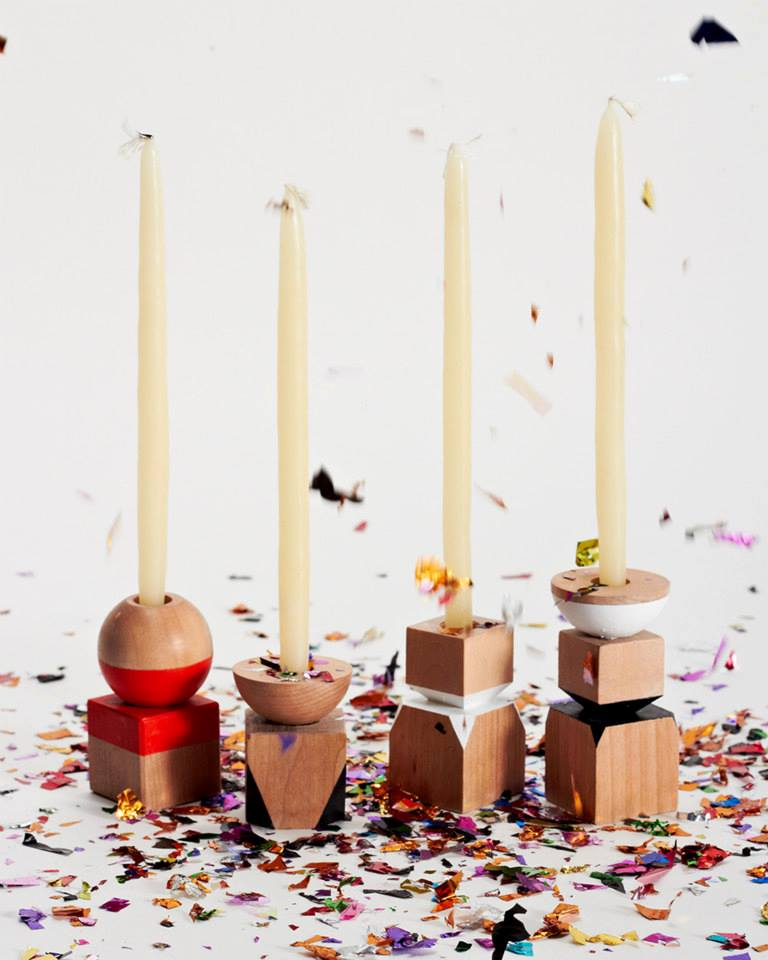 Post Candlesticks by M.Callahan Studio
