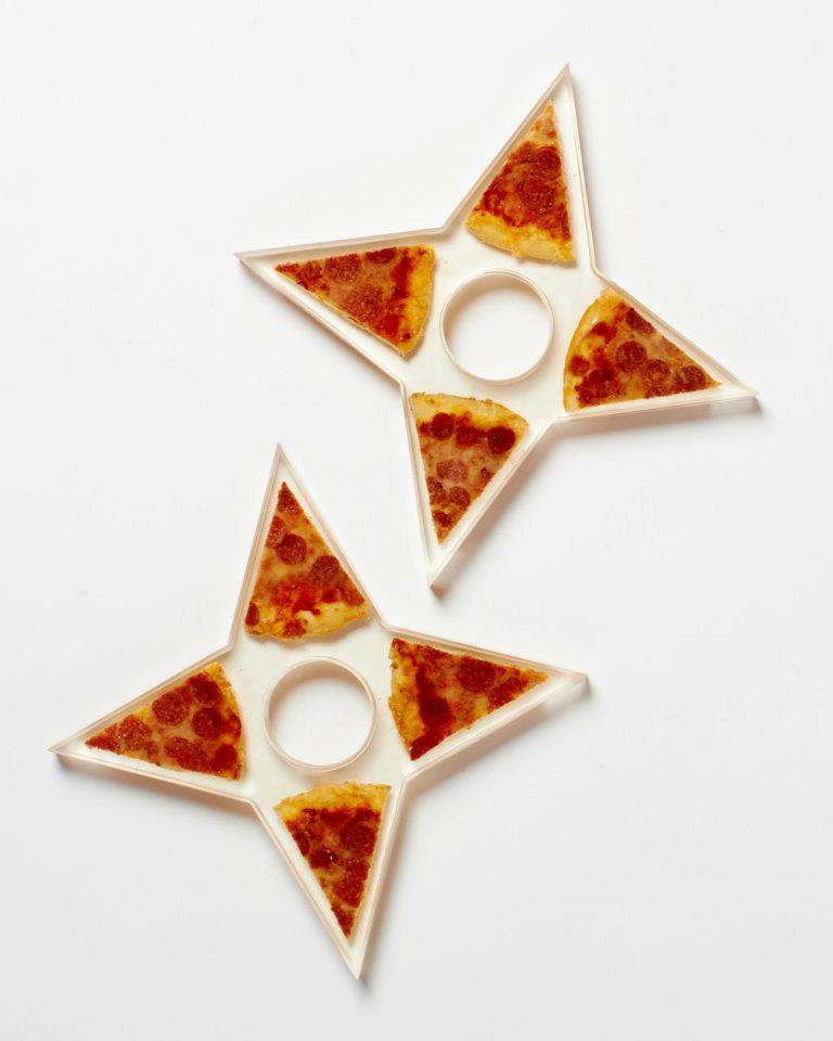 Pizza Ninja Stars by Steph Mantis