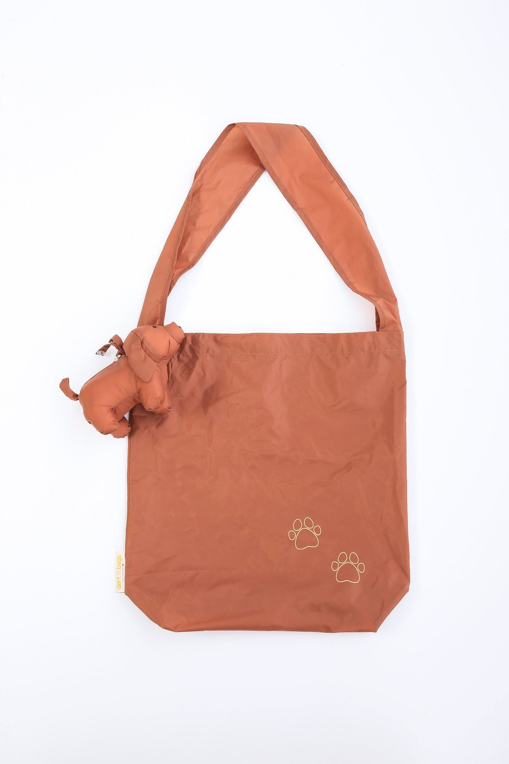 #4 Doggy Bag - This convenient Bag folds up into a little dog charm. Available online. $19
