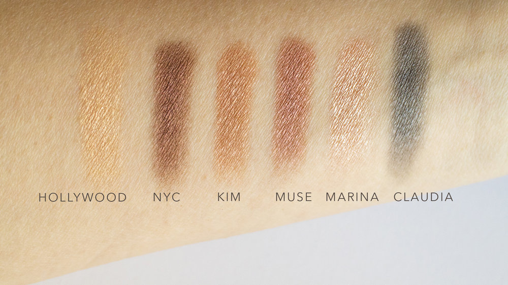 Top Row of Palette in natural daylight.