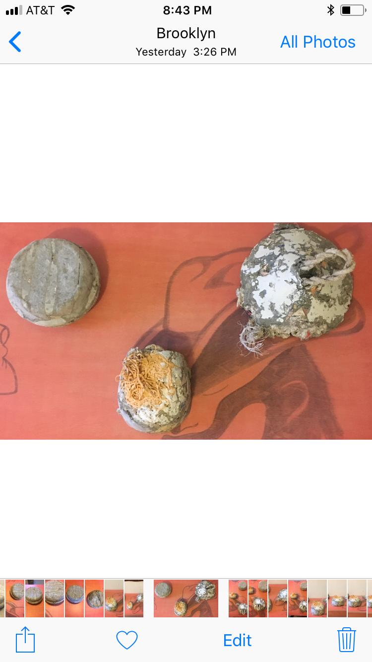 PULP, cement, paper, rope, & felt, 2017 -