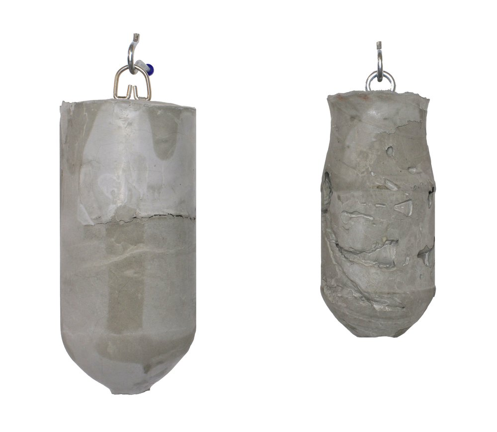 Plum, Concrete hanging form, 2018