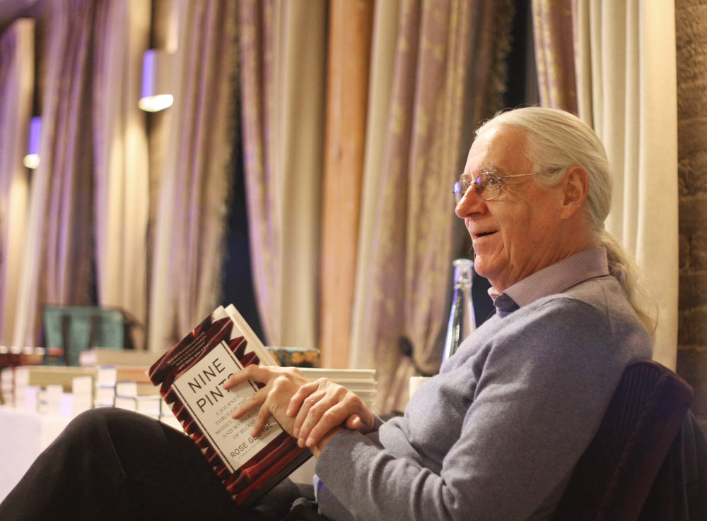 Ben McNally with his copy of  Nine Pints .