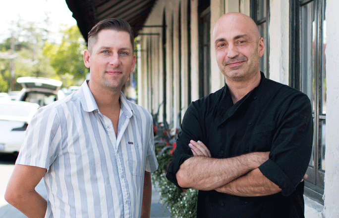 Owner Codi Binkley and Chef/Owner Carlo Cavallo