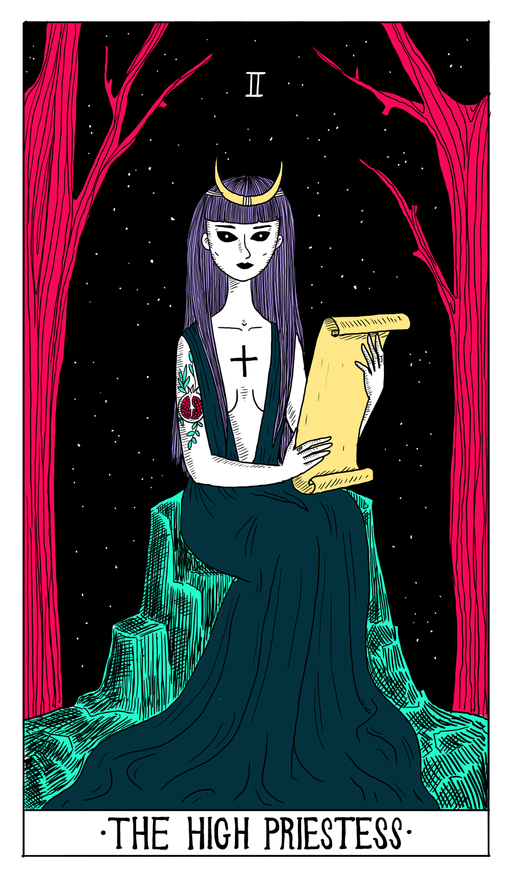 """The High Priestess"" by Madel Floyd"