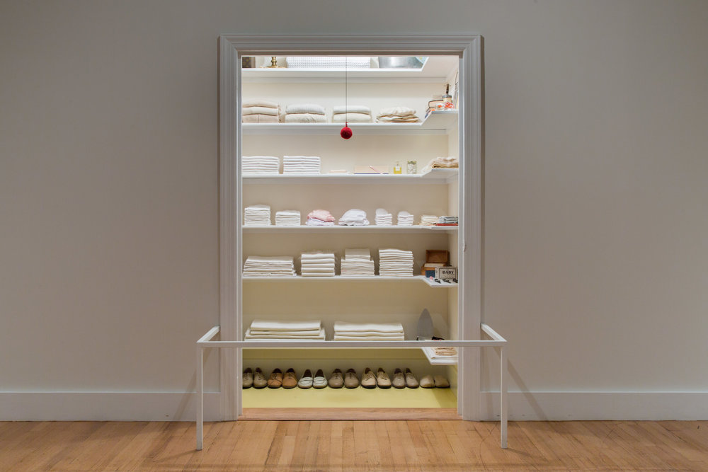 Sara Berman's Closet by Maira Kalman & Alex Kalman on view in The American Wing of the Metropolitan Museum of Art, NYC. 3/5/17-11/26/17