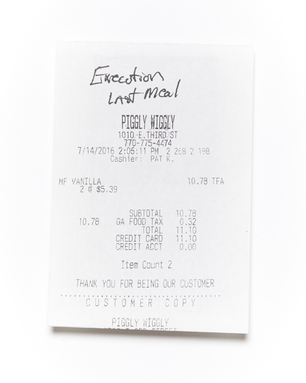 Last Meal Receipts