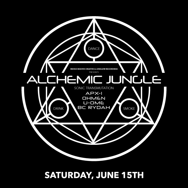 ALCHEMIC JUNGLE - Brought To You By :INDIGO BEEHIVE CREATIVE:In Collaboration with JUNGLIZM RECORDINGSJoin us for a night of Sonic Transmutation inna JUNGLE style in a never before used underground venue.This event is 18+ w/ID to enter, 21+ w/ID to drink.There will be Vendors and food onsite w/ an Outdoor Smoking Area. Cannabis FriendlyLimited Capacity - Get your Pre-Sale Tickets Now for $15.Address will be released Day of ONLY to those who have purchased a PRE-SALE or who have JOINED the mailing list.Dj's for the Night:APX1Tonz of Drumz-I Love L.A.OHMENJunglizm Recordings-Indigo Beehive CreativeU-OMEConcrete Jungle Los AngelesBC RYDAHYeska Beatz Unltd.Sound Provided By:FUGITIVE SOUND