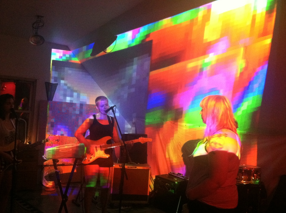 Live Visuals for Pony Farm  House show // Detroit MI // July 2015