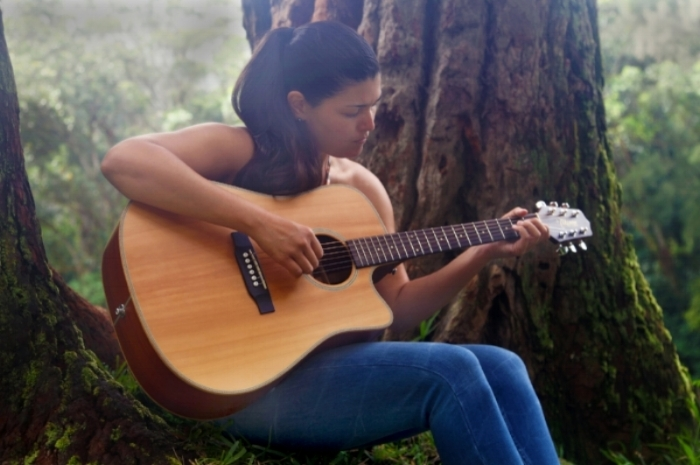 "AJA GAMPLE. Aja is a singer/songwriter and composer of Hawaiian music through Ki Ho'alu (Hawaiian slack key guitar). Born and raised on O'ahu, Aja has been performing professionally since 2016 and has been identified as one of the bright new stars of Hawaiian slack key guitar. She recently released her debut CD, ""Hua'i"". Performing Fridays 5-8 p."