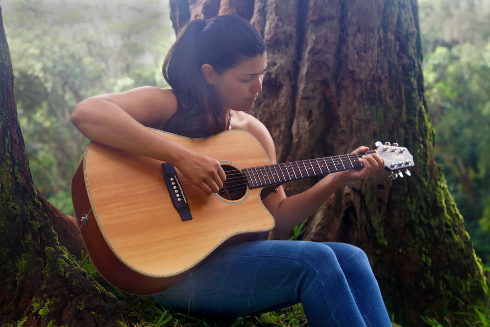 "AJA GAMPLE. Aja is a singer/songwriter and composer of Hawaiian music through Ki Ho'alu (Hawaiian slack key guitar). Born and raised on O'ahu, Aja has been performing professionally since 2016 and has been identified as one of the bright new stars of Hawaiian slack key guitar. She recently released her debut CD, ""Hua'i"". Performing Fridays."