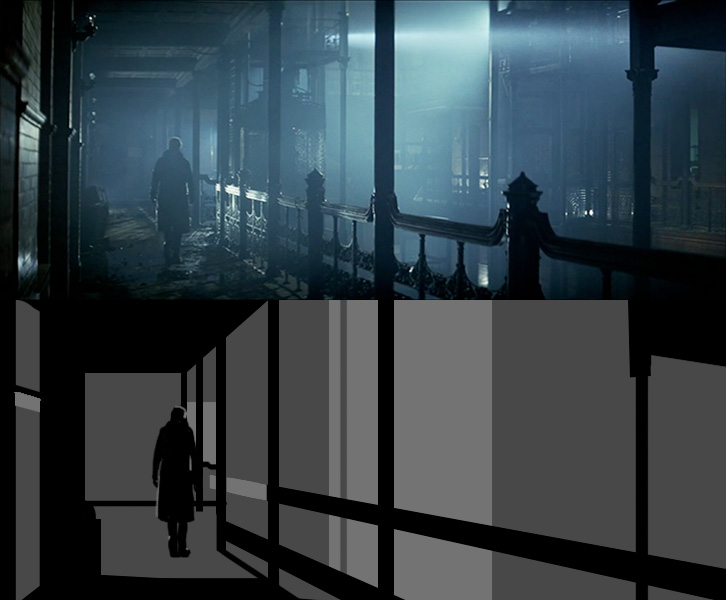 Bladerunner - Nothing shows how to design shadow like film noir.