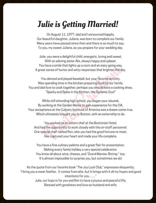 Wedding Poem Poetic Creations