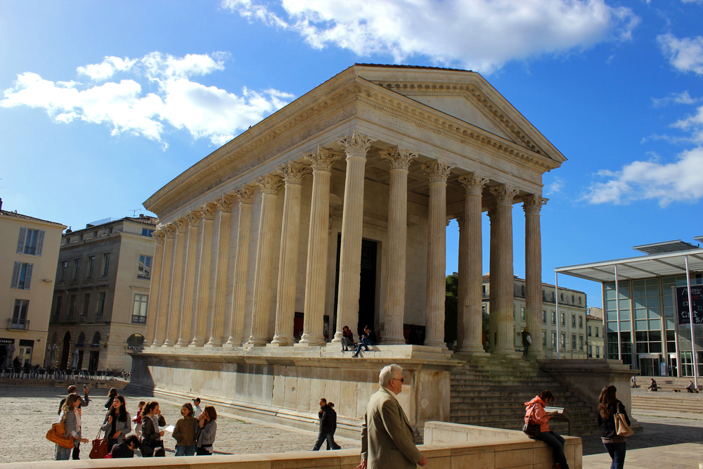 The Maison Carre in Nimes, France.