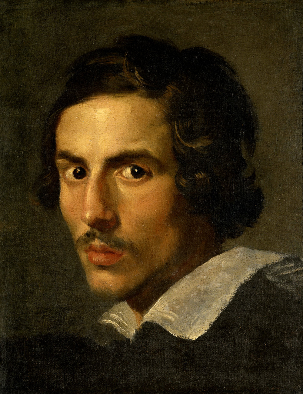 Gian Lorenzo Bernini , self-portrait (c. 1623), public domain from  Wikimedia .