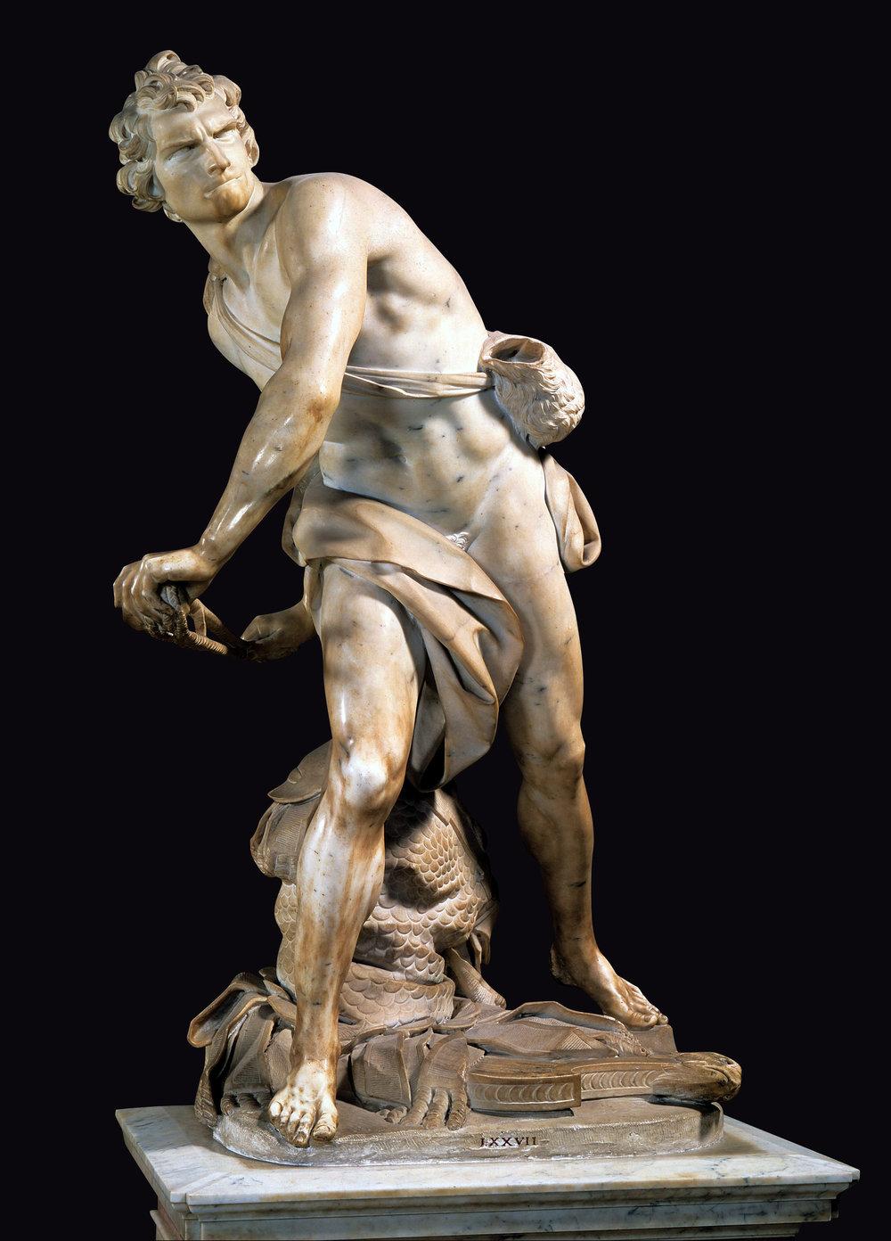 Bernini's David.