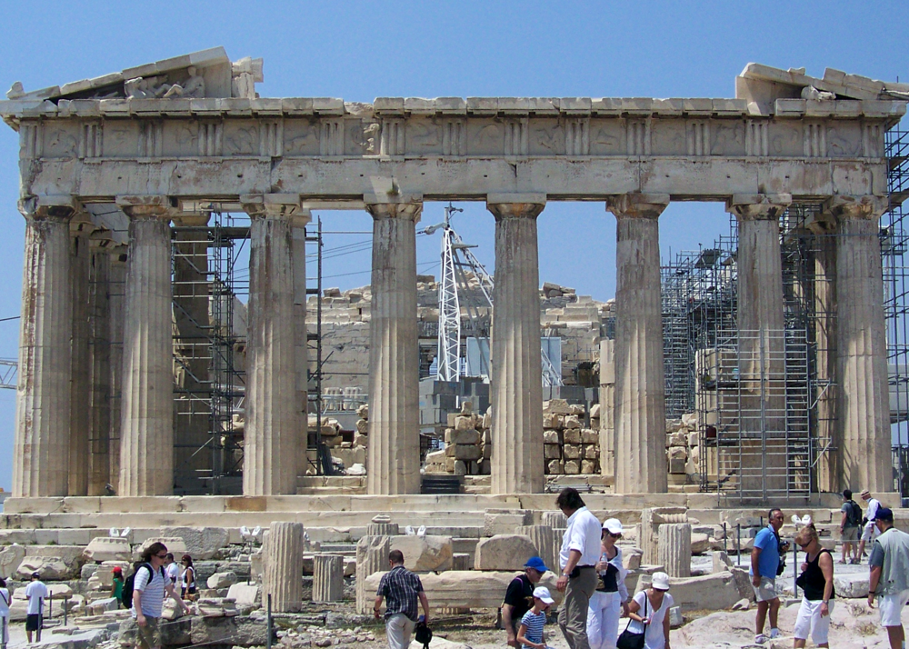 The Parthenon. Photo by  Florestan  via  Wikimedia ,  CC BY 3.0 .