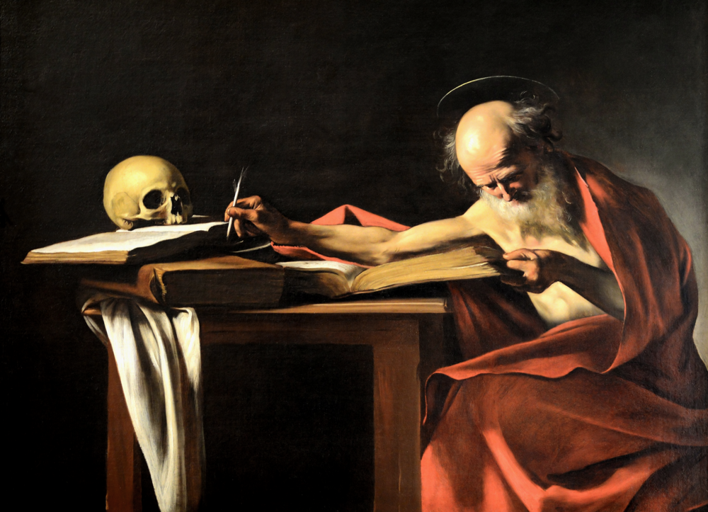 Saint Jerome   by Caravaggio, c. 1605–1606