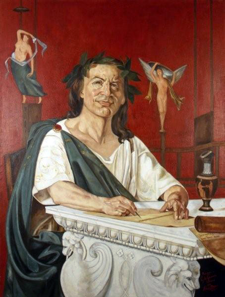 Horace, portrayed by Giacomo Di Chirico. Painting from Wikimedia.