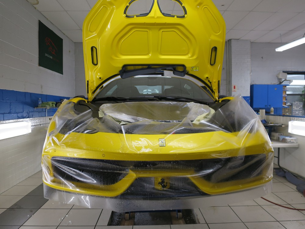 ferrari, ppf, paint protection film