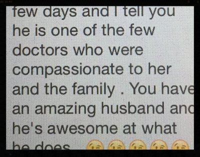 Snippet of the text from my former colleague.