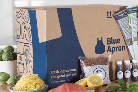 Beautiful product display from Blue Apron