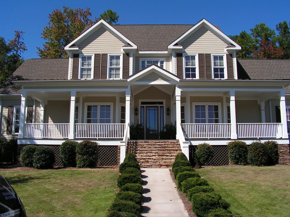 Exterior painting project of whole home in Evans, Georgia.