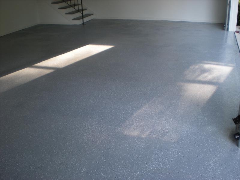 Garage floor etch and resurface in Evans, Georgia