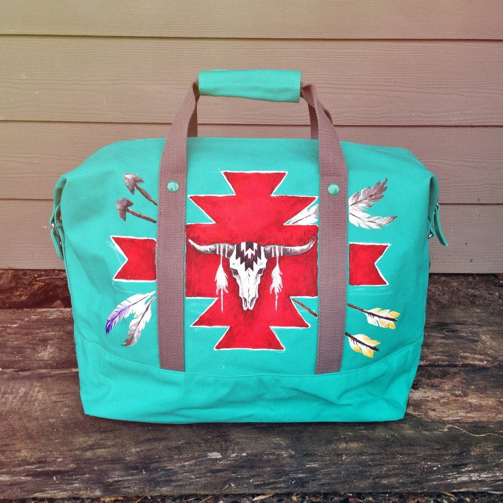 A custom bag I created with lots of western flair.