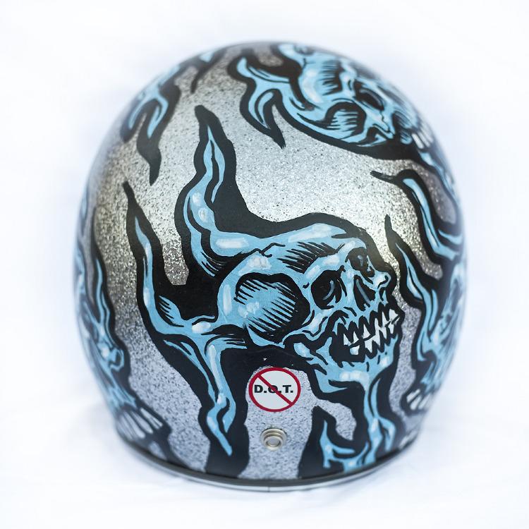 Artist- Jimbo Phillips Item- Helmet Material- Mixed medium 4.jpg