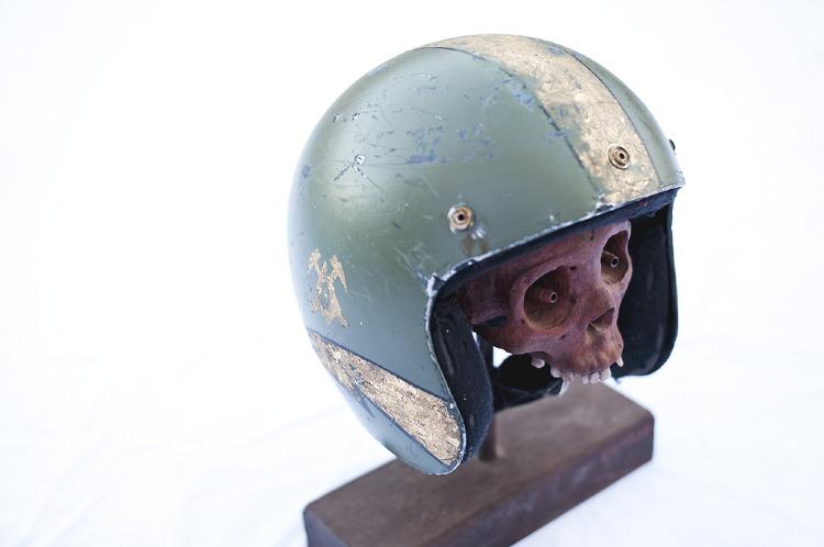 Artist- Les Schettkoe Item- Helmet Material- Mixed Medium 1.jpg