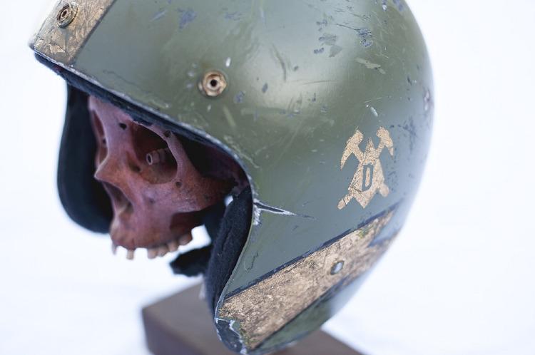 Artist- Les Schettkoe Item- Helmet Material- Mixed Medium 3.jpg