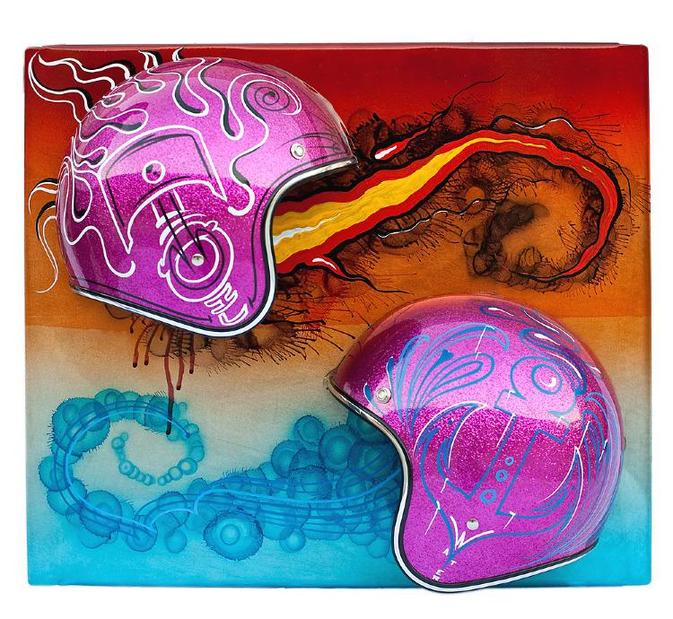 Artist- Manuel Cisneros Item- Helmet Material - Mixed medium .jpg