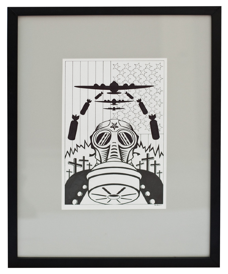 Artist- Max Grundy %22Fear is the next beauty%22 Size- 8 ½ x 11 Material- Pen and ink on paper.jpg