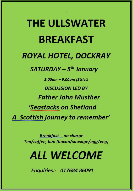 Ullswater Breakfast