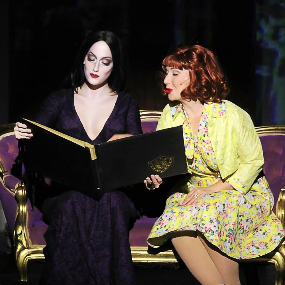 Chloe Fox and Erica Wilpon in  The Addams Family