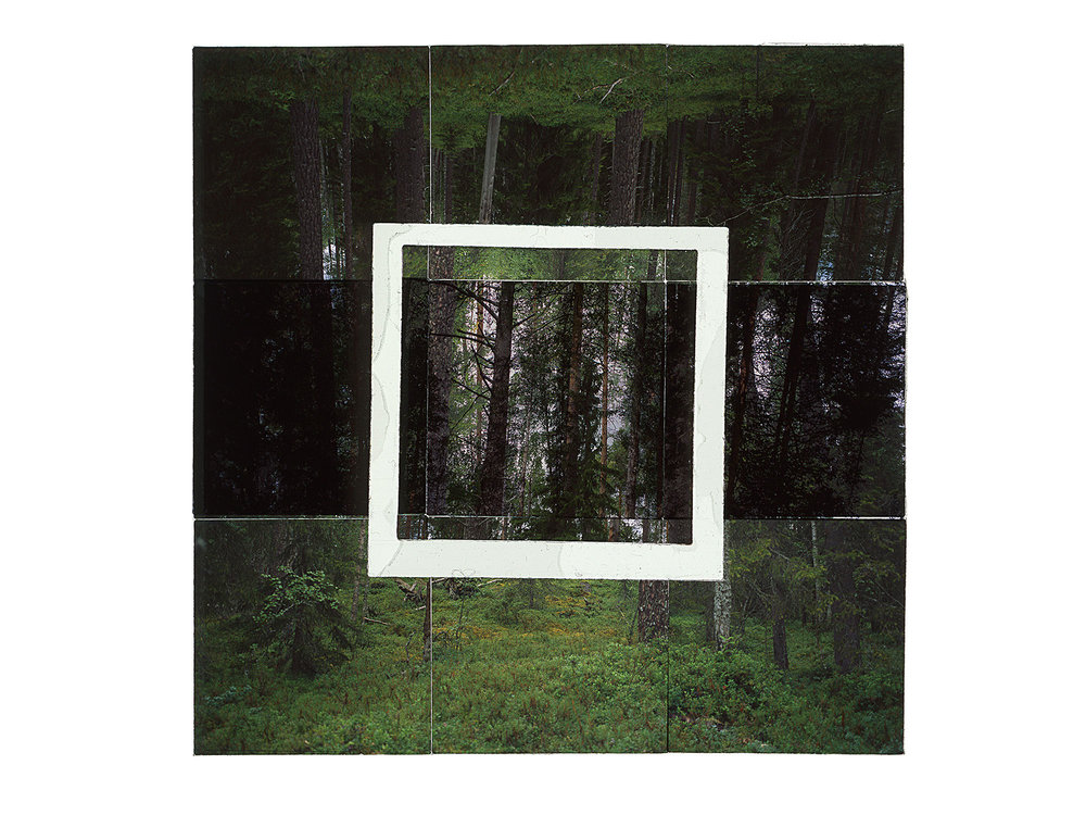 "JATKONVAARA • 48""x48"" (122cm x 122cm) • C-print from color transparency film composition"