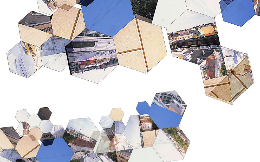 "Hexagon Derivative 1 • 30""x51"" [76cm x 130cm] • C-print from color transparency composition"