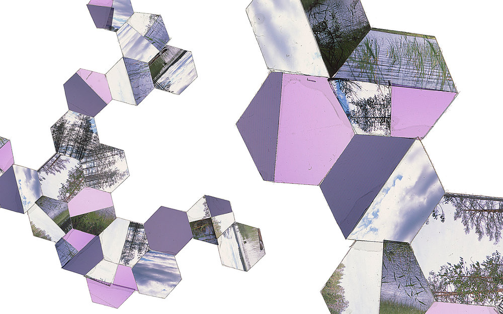 "Hexagon Derivative 7 • 30""x51"" [76cm x 130cm] • C-print from color transparency composition"