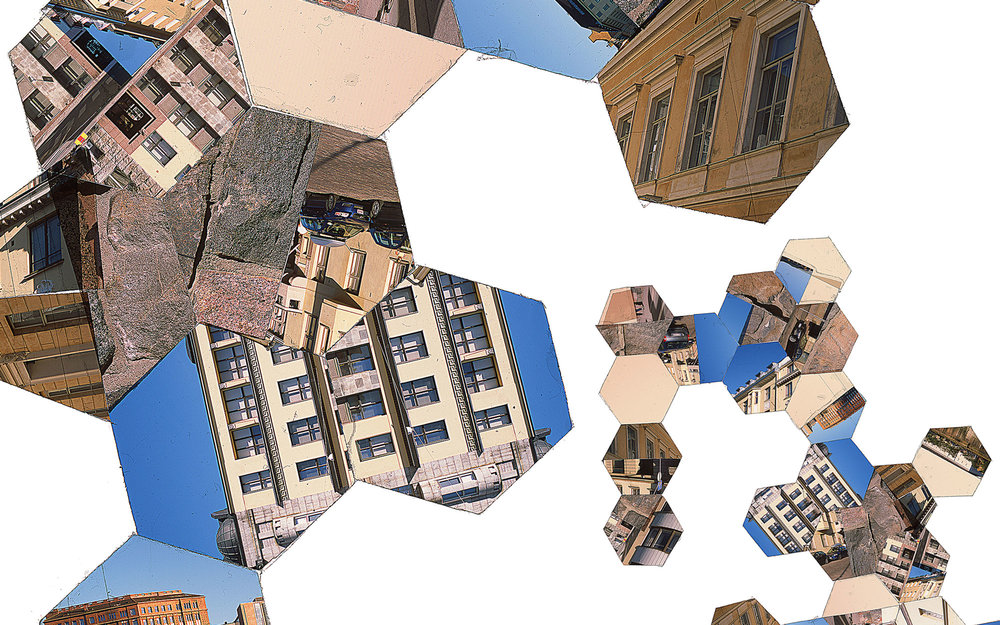 "Hexagon Derivative 10 • 30""x51"" [76cm x 130cm] • C-print from color transparency composition"