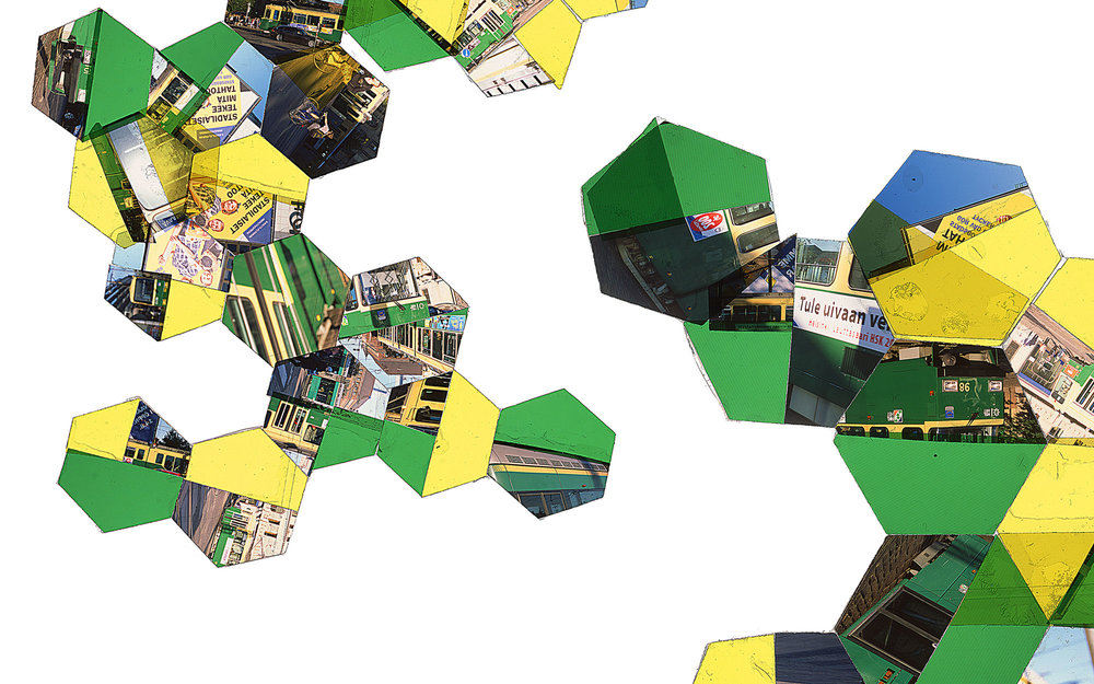 "Hexagon Derivative 11 • 30""x51"" [76cm x 130cm] • C-print from color transparency composition"