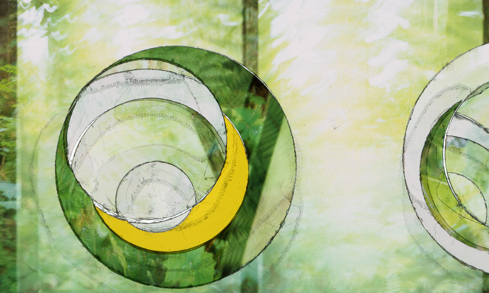 """VERDANT PHASES"" (DETAIL), TRANSPARENCY FILM PRINT"