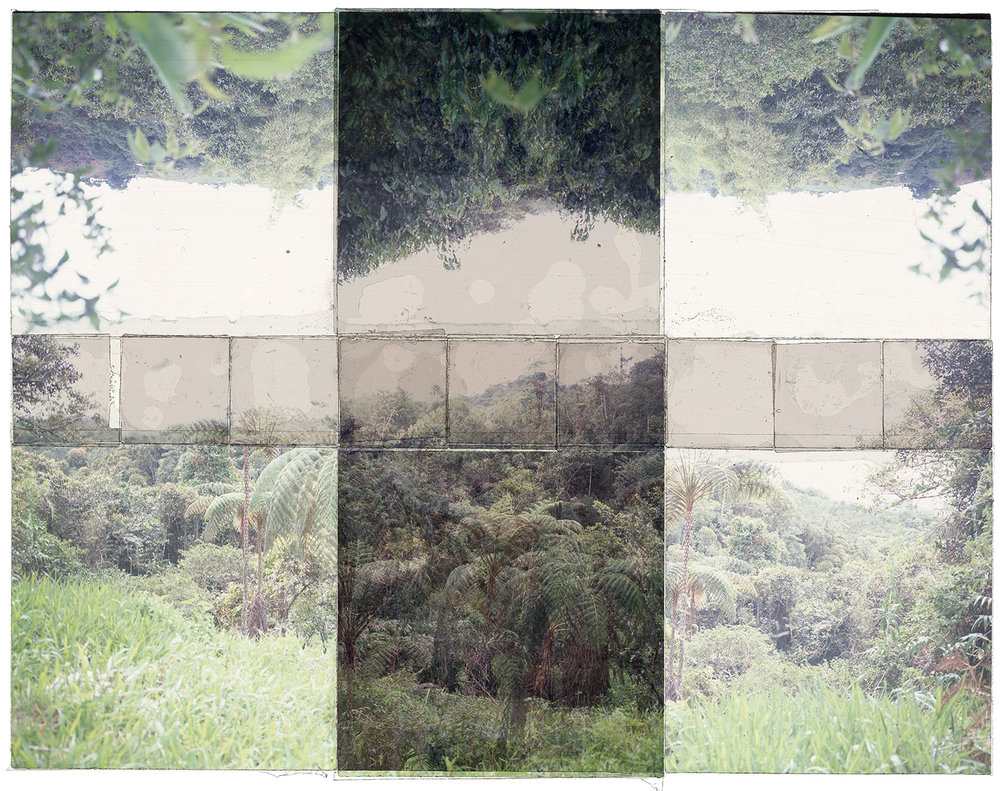 "QUEREMAL, COLOMBIA  , TRANSPARENCY FILM PRINT, 40""x24"" - 2018"