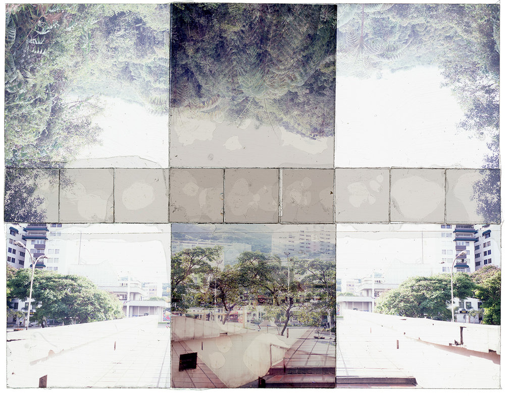 "CALI, COLOMBIA 3  , TRANSPARENCY FILM PRINT, 40""x24"" - 2018"