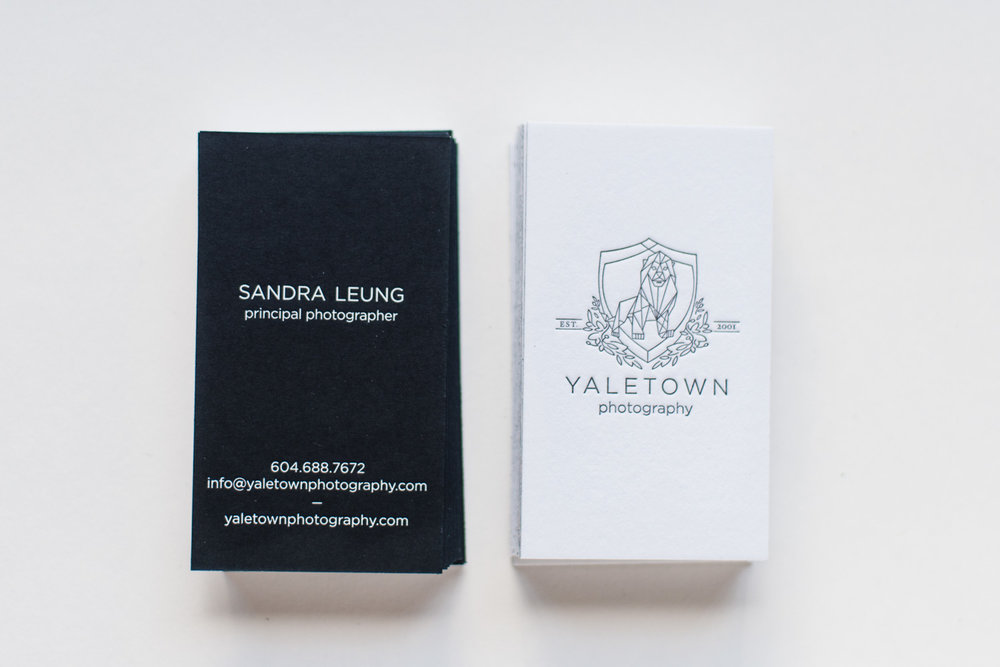 New Letter-Press Business Cards